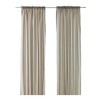 ikea cortinas establecen vivan 2 cortinas beige 300 x 145 cm con ciclos ocultos