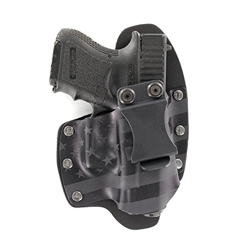 USA Stealth Black IWB Hybrid Concealed Carry Holster (Right-Hand, Glock 17,19,22,23,25,26,27,28,31,32,34,35,41 (19X,17,19,26 Gen5)