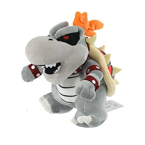 Super Mario 3D Land Bone Kubah Dragon Plush Toy Bolster Cartoon Plush Soft Stuffed Dolls Dry Bones Bowser Koopa 23CM ()