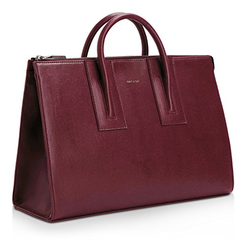 MATT & NAT Tacoma Medium Vintage Satchel - Cerise