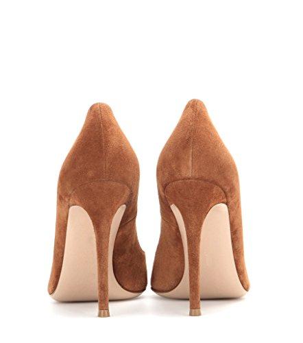 À Marron Soiree Escarpins Hauts Edefs Bout Pu Pointu Grande Aiguille Fete Vernis Talons Cuir Taille Chaussures Femme UxIqT
