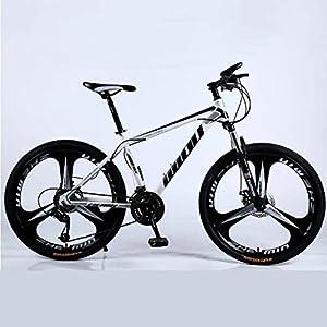 41WZjQ30JUL. SS300 Adulti Mountain Bike, Spiaggia motoslitta Biciclette, Doppio Freno a Disco Biciclette, 26 Pollici in Alluminio Lega…
