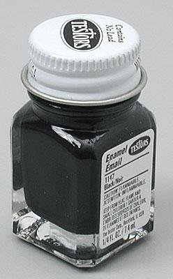 Testors 1147TT Black, Gloss, 0.25 fl oz Enamel Paint,