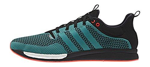 adidas Herren Adizero Feather Boost Laufschuhe Schwarz (Core Black/Eqt Green S16/Ftwr White)