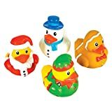 Rhode Island Novelty 2' Holiday Character Christmas Rubber Ducks (12 Piece)