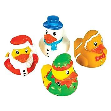 rhode island novelty 2 holiday character christmas rubber ducks - Christmas Duck