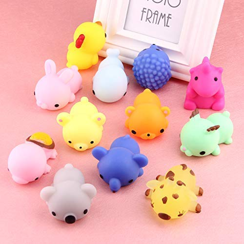 Satkago 3rd Generation Squishys Toys, 12pcs Big Upgrade Size Mochi Kawaii Squeeze Cartoon Animal Toys for Kids Adults Stress Relieve Pressure Release Anxiety Toy by Satkago (Image #2)