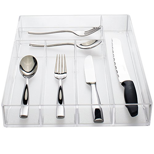Clear Plastic Silverware and Utensil - Silverware Drawer Liner