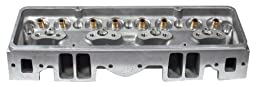 RHS 12062 Pro Action 235cc Angled Plug Bare Aluminum Lightning Cylinder Head for Small Block Chevy