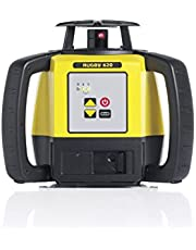 Leica Geosystems R620,RE140, Alkaline Rugby 620 2600-Feet Self Leveling Horizontal and Manual Single Slope Rotary Laser Kit with Rod Eye 140 Receiver, Yellow