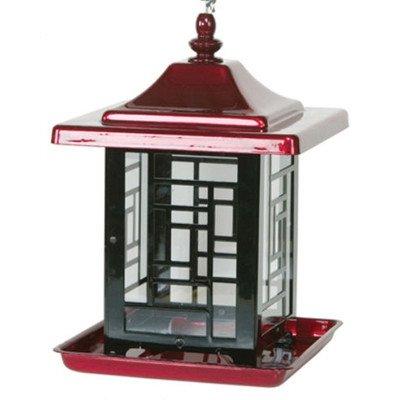 Homestead 355393 Mosaic Bird Feeder Red 5.5 Lb Capacity NEW