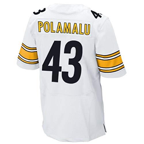 Ouyehcs Troy_Polamalu_White #43 Fans Jersey Sportswears Football Game Jerseys