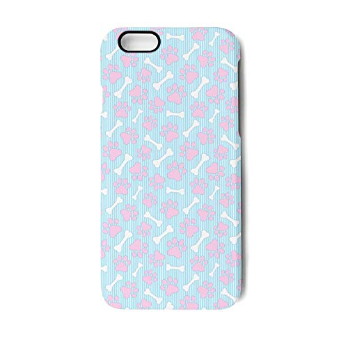 JKUS iPhone 6/6s Case Pink Dog Paws and Bones Ultra-Thin Bac