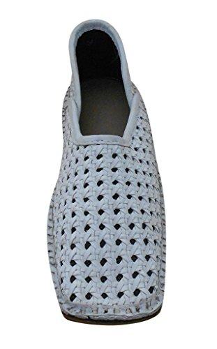 Kalra Creations - Zapatillas de estar por casa de Piel para hombre blanco