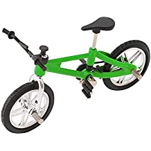 SupremeLife Finger Baby Monkey Bike, Mini Finger Bicycle, Metal Cool Toy, Creative Toy for Finger Monkey Collection, Best Christmas Gift (Green)