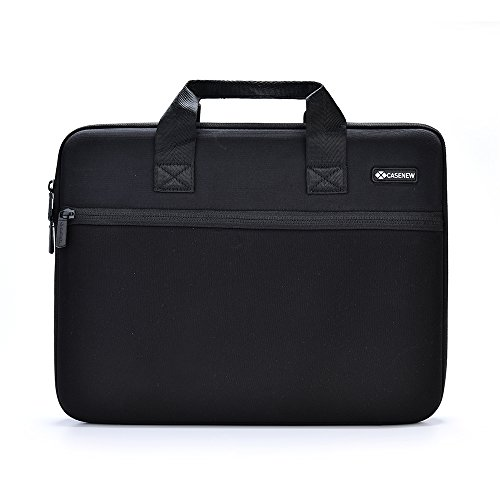 Case New Hard Carrying Case Laptop Computer Shoulder Bag Sleeve Briefcase for 15 Inch Macbook Pro-Black and Grey (Black, 15inch,fit for macbook pro 15 inch exactly)