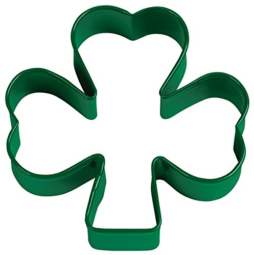 Wilton Green Metal Shamrock Cookie Cutter