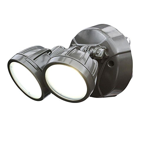 All Pro Twin Head Outdoor Security Round Led Flood Light