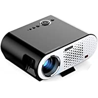 GP90 LED 3200 Lumens Video Porjector HD Multimedia Home Theater Projector Support 1080P USB SD Card VGA AV Interface for TV Laptop Game with Free HDMI Cable