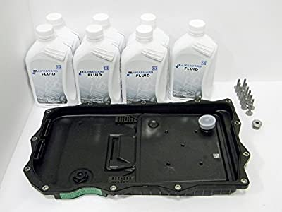 ZF Automatic Transmission Oil Pan Filter Kit 1087298247 and 7 Liters of ZF Transmission Fluid (Lifeguard 8 - S671090312)