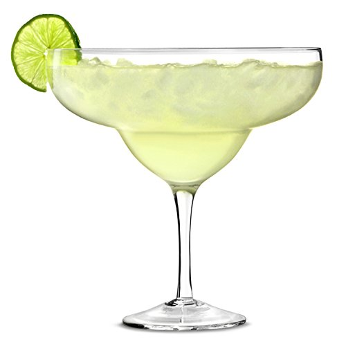 bar@drinkstuff Giant Margarita Glass 1.3ltr - Set of 4 Giant Cocktail Sharer for Decorative Drinks and Centrepieces