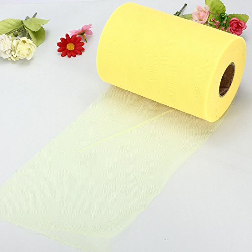 (Professional For Tulle Roll Spool, Soft 6 X100yd Tulle Roll Spool Wedding Craft Bridal Party Decor X300 39 Yellow - Tulle Roll, Tulle Fabric Rolls, Tulle Spool, Yard Tulle, Roll Of Tulle)