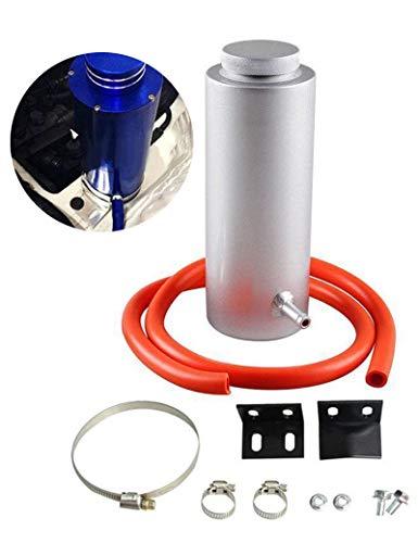 BLACKHORSE-RACING Universal 800ml Car Radiator Coolant Overflow Oil Catch Tank Cooling Catch Bottle Overflow Reservoir Heatsinks Aluminum Billet Silver