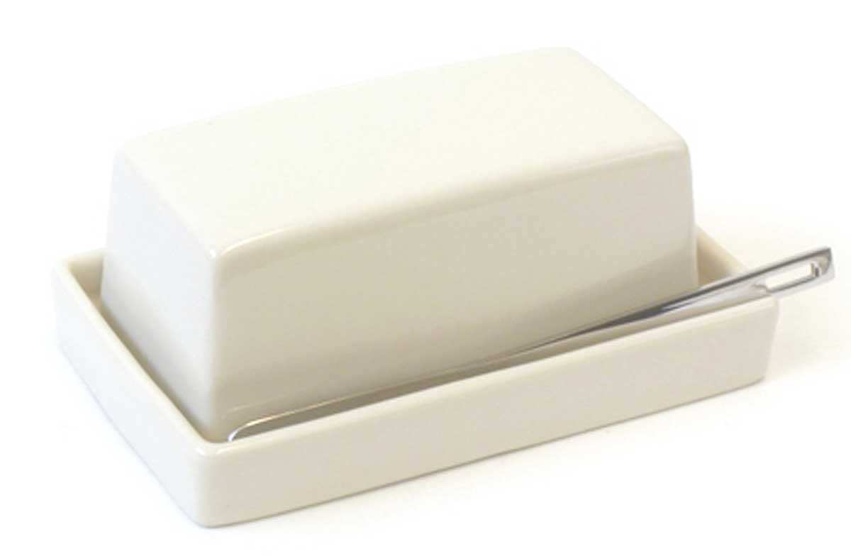 Bee House Butter Dish with Stainless Steel Butter Knife (Ivory) Bee House (Zero Japan) BYK-12 IV
