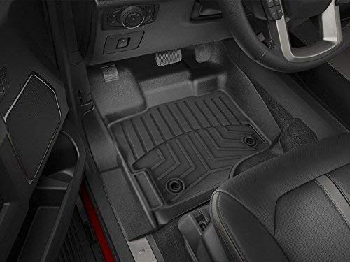 (Floor Liner Fit Ford F150 2015-2019,AKM Black Floor Mats fit Supercrew(Crew Cab) Carpet Floor Bucket (Only 1st Row Driver/Passenger))