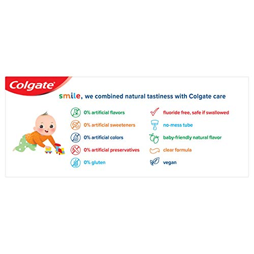 41WZny4%2Ba4L - Colgate Zero Baby And Toddler Fluoride Free And SLS Free Toothpaste, Natural Mild Fruit - 1.75 Ounce