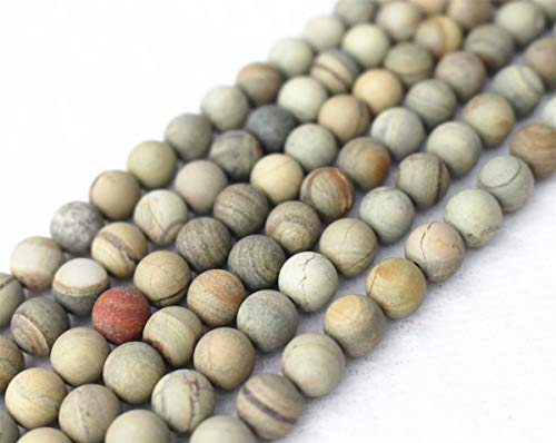 Wholesale A Natural Matte Silver Leaf Jasper Beads,4mm 6mm 8mm 10mm 12mm Silver Leaf Jasper Round Beads.Silver Leaf Jasper Beads Wholesale.DIY Jewelry Making (4mm,90pcs)