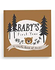 Lucy Darling Little Camper Baby Memory Book - First Year Journal Album To Capture Precious Moments - Milestone Keepsake For Boy Or Girl - Baby Shower Gift - Made In USA