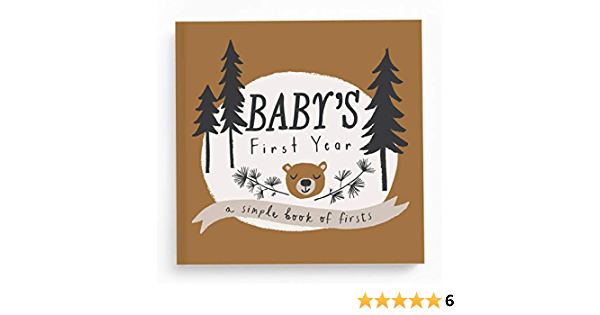 Little Pup Winter First Birthday Memory Guestbook Enchanted Forest Wolf Time Capsule Wolfpack Vintage