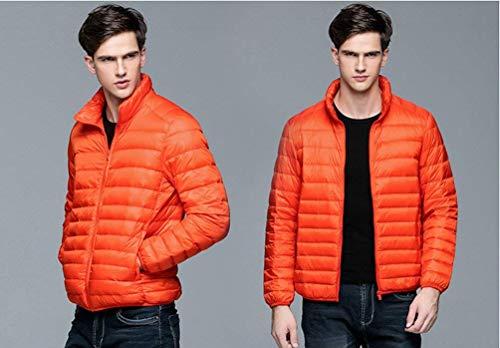 Uomo Comprimibile E Confortevoli Ultra Rm Cappotto Capispalla D'arancio Autunno Trapuntato Misura Piumino Facile Caldo L'inverno Abbigliamento PEYwqagAx
