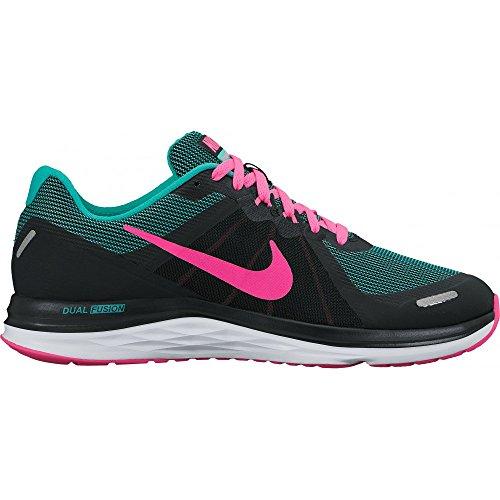 Nike Dual Fusion X 2 Heren Hardloopschoenen Trainers 819.316 Sneakers Schoenen (us 5, Zwart Roze Ontploffing Wit 010)