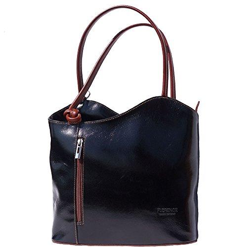 à marron èpaule transformable dos sac en Noir 207 à sac wP65qXz