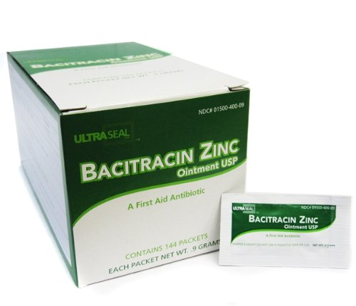 BACITRACIN ZINC Ointment Individual Foil Box Aftercare 144pc/Box Tattoo Supply Ointment Foil