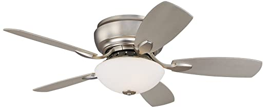 "44"" Casa Habitat Brushed Steel Hugger Ceiling Fan - - Amazon.com"