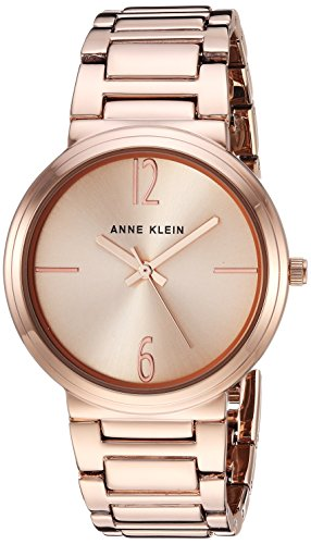 (Anne Klein Women's AK/3168RGRG Rose Gold-Tone Bracelet Watch)
