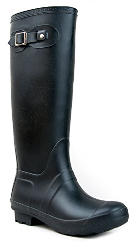 Classic Over the Knee High Rain Boot û WomenÆs welly Comfort Tall Mid Calf Rainboot (Old West Outfit)