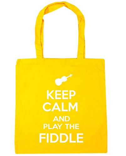 10 Keep Play the Tote Calm and x38cm Shopping Fiddle HippoWarehouse 42cm litres Gym Beach Bag Yellow OUqwBB