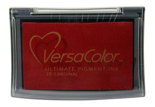 Tsukineko Full-Size VersaColor Ultimate Pigment Inkpad, Cardinal