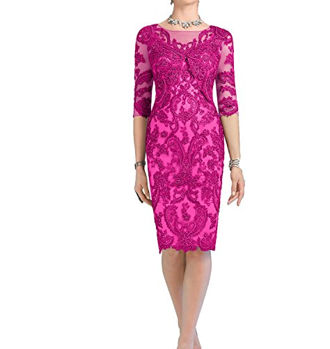 Promkleider Brautmutterkleider Grau Charmant Etuikleider Luxurioes Knielang Pink Damen Abendkleider tYvgwqgax