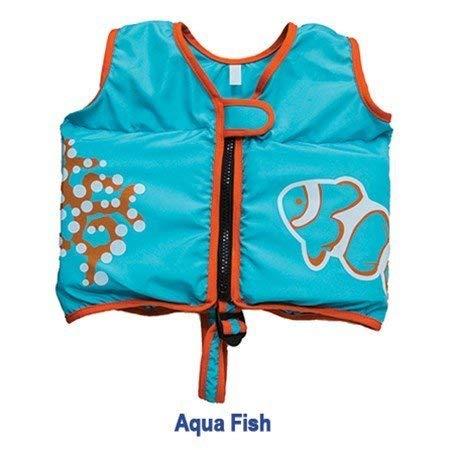SwimWays 6051230 Swim Vest, Aqua Fish