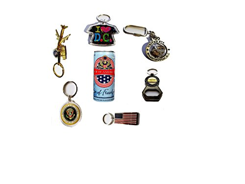 Best American souvenir Bundle Premium Amusement Novelty for Travelers Washington DC Keychains