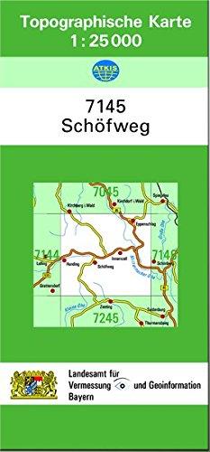 TK25 7145 Schöfweg  Topographische Karte 1 25000  TK25 Topographische Karte 1 25000 Bayern