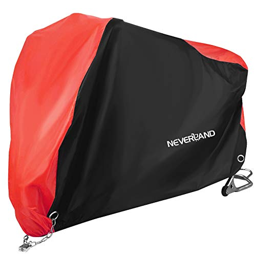 NEVERLAND Motorcycle Cover,Outdoor Waterproof Oxford Cloth UV Dust Protector lockable Bandage,scooter Cover Fit less than 71