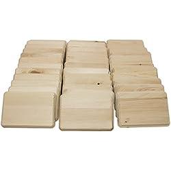 Walnut Hollow 42163 5x7 Rectangle Assortment, 36pcs Wood Plaque, Pine