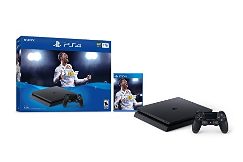 PlayStation 4 Slim 1TB Console System with FIFA 18 Ultimate Team Bundle