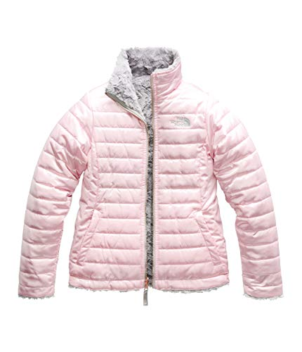 The North Face Girl's Reversible Mossbud Swirl Jacket - Purdy Pink - S -